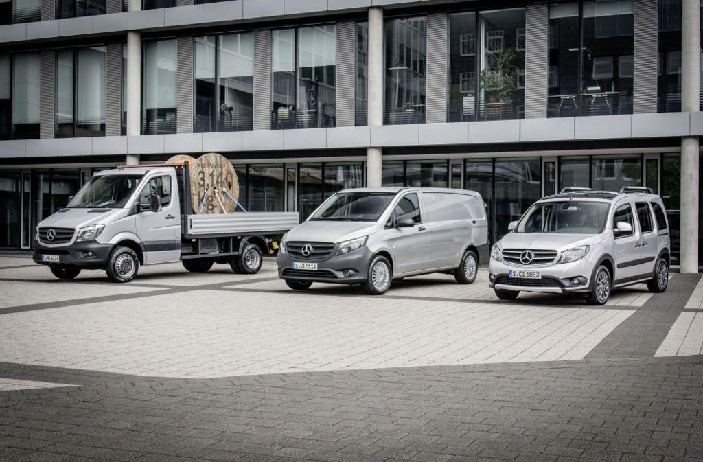 Alles Mercedes-Vans soll es künftig auch mit Elektroantrieb geben. Foto: Daimler