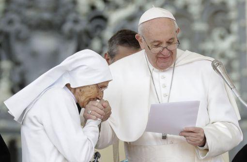 Papst hatte Hygiene-Sorgen