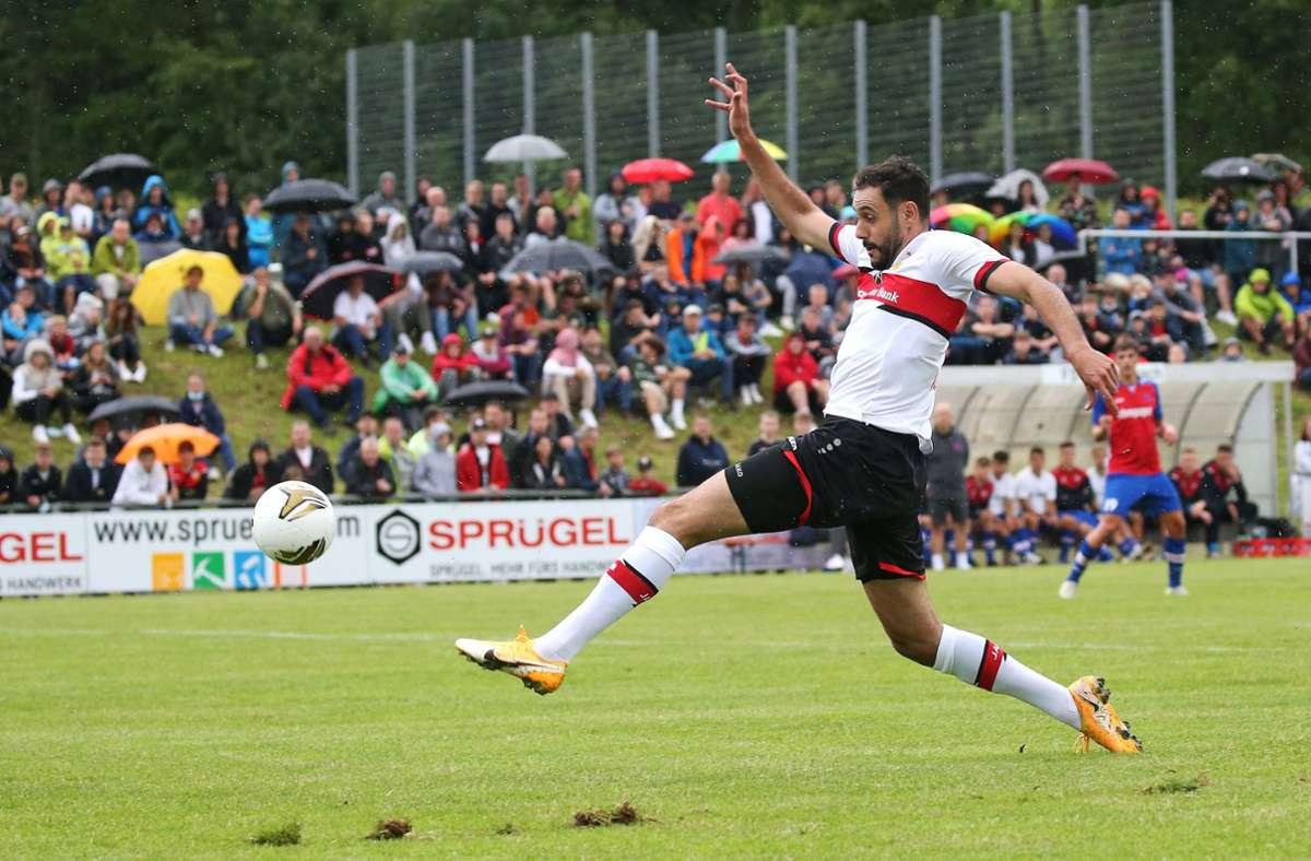 Hamadi Al Ghaddioui erzielte einen Treffer im Testspiel. Foto: Pressefoto Baumann/Alexander Keppler
