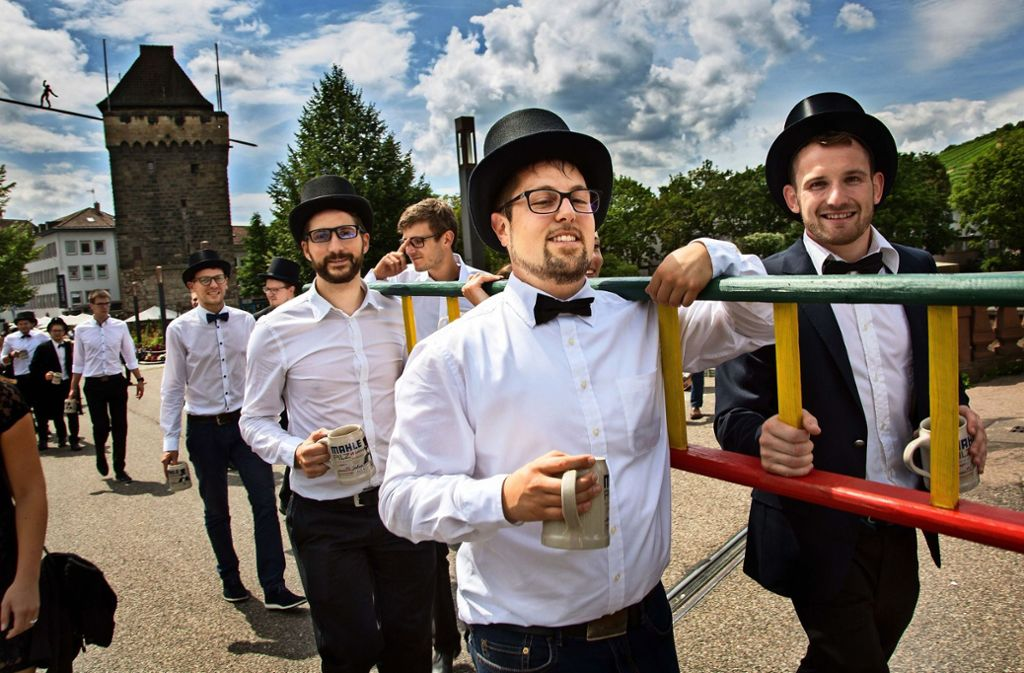 Der Kandelmarsch in Esslingen ist unter anderem auch ein Zeichen der Wertschätzung. Er soll die Identifikation von Studenten mit der Stadt stärken. Foto: Ines Rudel/Archiv
