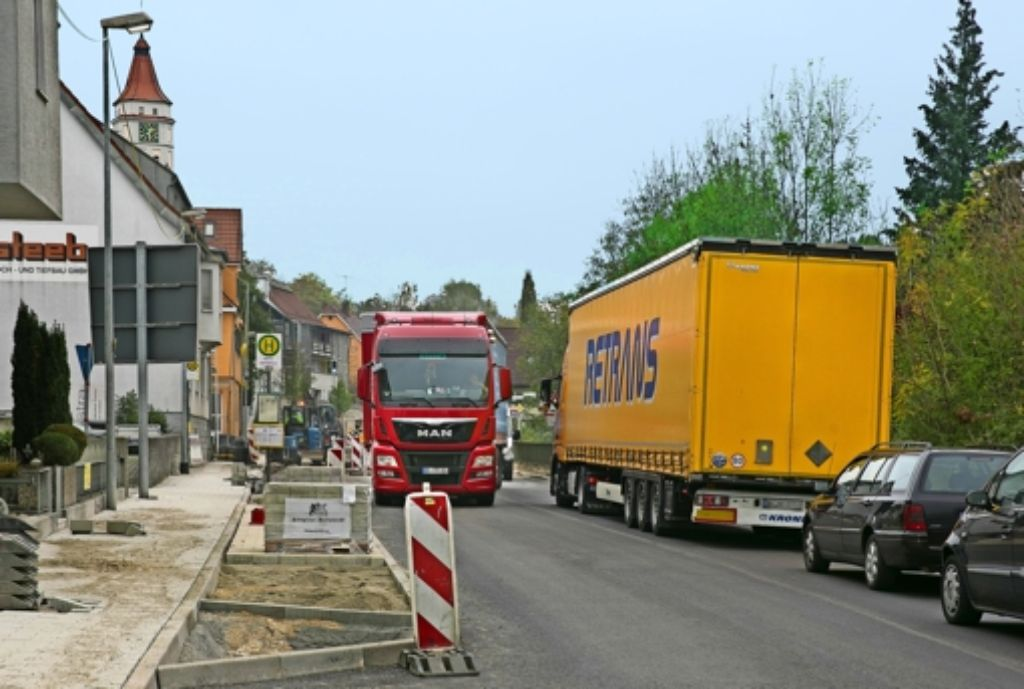 Anfang November ist der Bauabschnitt auf der Lorcher Straße vollendet.Foto:Horst Rudel Foto: