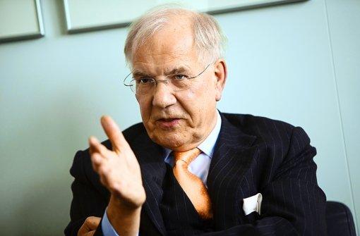 Brun-Hagen Hennerkes plädiert fürs Sparen als Sanierungsstrategie. Foto: Michael Steinert
