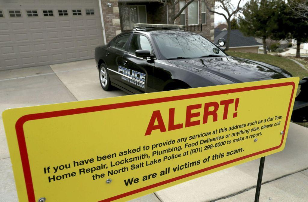 Mittlerweile hat Gilmore ein Warnschild an seinem Haus angebracht. Foto: The Deseret News