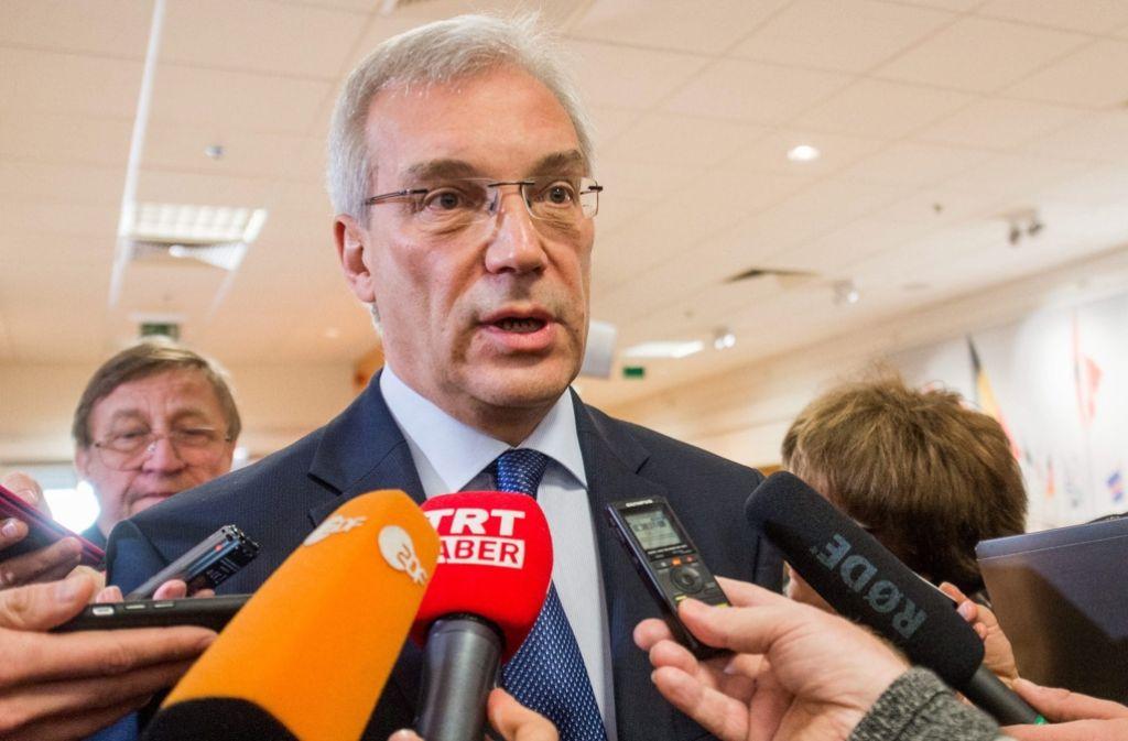 Der russische Nato-Botschafter Alexander Grushko macht der Allianz und speziell den Amerikanern weiter große Vorwürfe – wenigstens haben alle Beteiligten erstmals seit zwei Jahren aber wieder gemeinsam darüber  diskutiert Foto: dpa