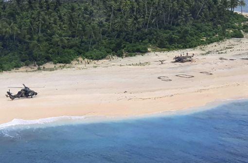 Verschollene zeichnen großes SOS in Sand – Rettung