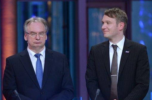 Der Ministerpräsident  Reiner Haseloff und  AfD-Spitzenkandidat  André Poggenburg Foto: dpa