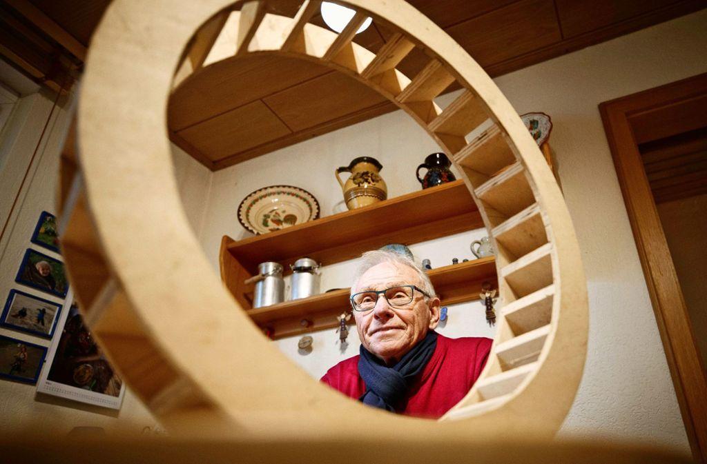 Martin Elsers Wissen rund um den Mühlenbau ist riesig. Foto: Gottfried Stoppel