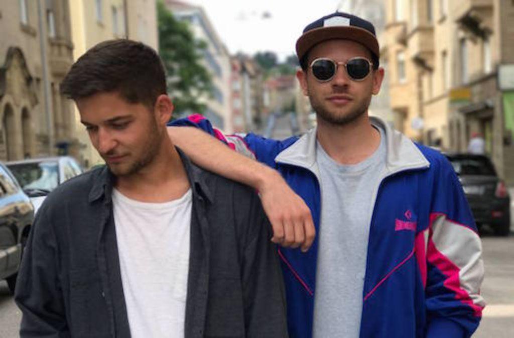 Diese Woche in unserem Stylecheck: Berno (links) und Daniel (rechts) von BeDan. Foto: Laura Müller-Sixer