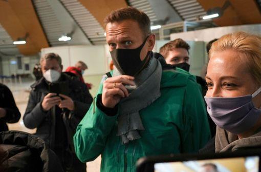 Nawalny und Wladimir Unterhoser