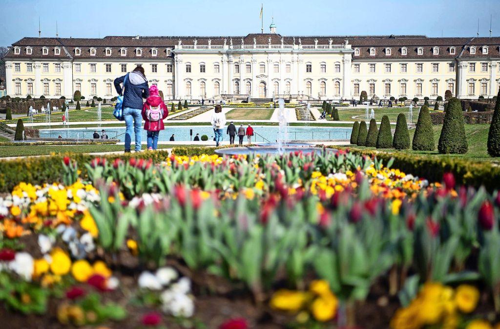 Voraussichtlich 590000 Besucher werden bis zum Ende der Saison am 3. November das Blühende Barock in Ludwigsburg besucht haben. Foto: dpa/Sebastian Gollnow