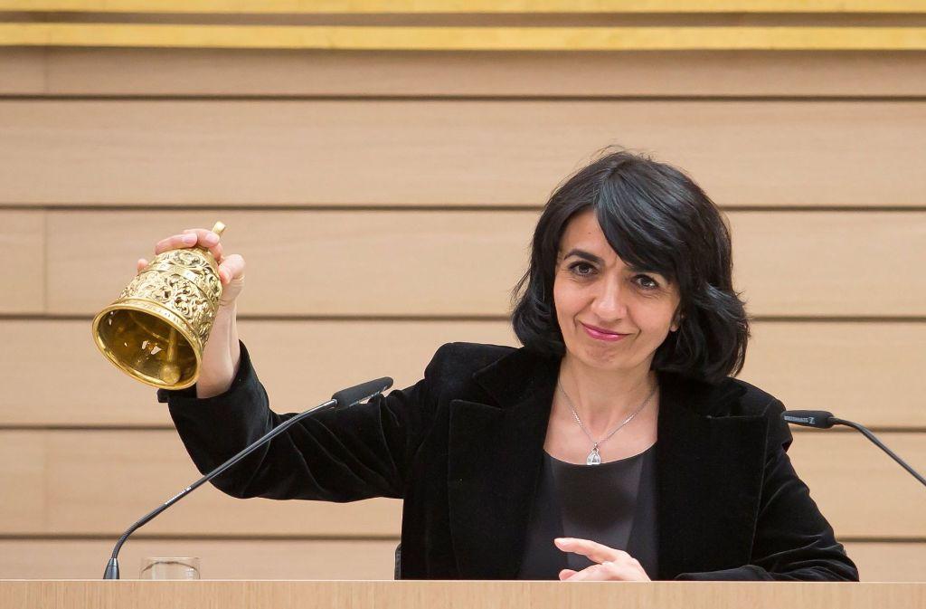 Landtagspräsidentin Muhterem Aras (Grüne) hältl die 400 000 Euro für die Expertenkommission zur Zukunft der Abgeordnetenrente für gut angelegt. Foto: dpa