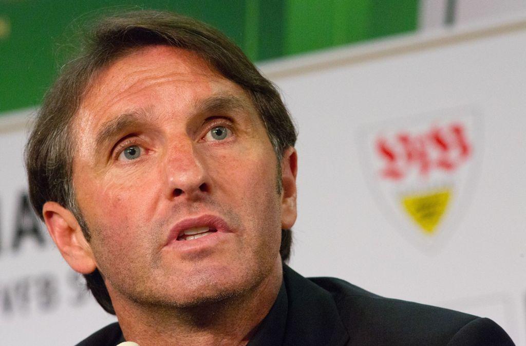 Bruno Labbadia setzte in seiner Zeit als VfB-Trainer zu einer legendären Wutrede an. Foto: dpa