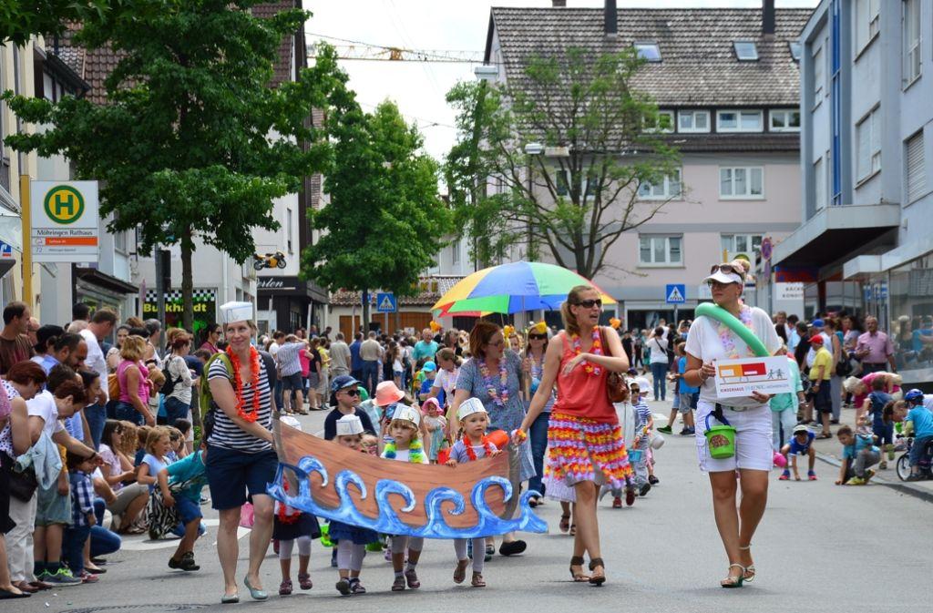 Der Umzug am Sonntagnachmittag ist traditionell der Höhepunkt beim Kinderfest. Foto: Archiv Lisa Wazulin