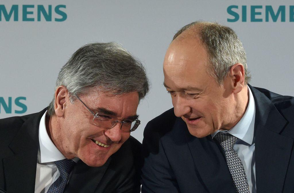 Wechsel an der Spitze: Roland Busch löst Konzernchef Joe Kaeser Anfang nächsten Jahres ab. Foto: AFP/Christof Stache