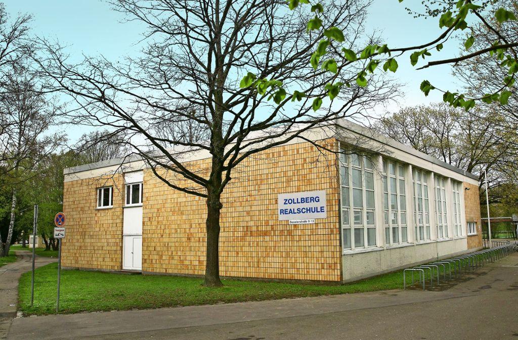 Ob an der PCB-belasteten Zollberg-Realschule weiterhin unterrichtet werden kann, ist zurzeit   ungewiss. Foto: Ines Rudel