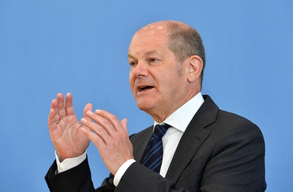 Finanzminister Olaf Scholz (SPD) ringt mit seinen Finanzminister-Kollegen aus den EU-Staaten um einen Kompromiss. Foto: dpa/John Macdougall