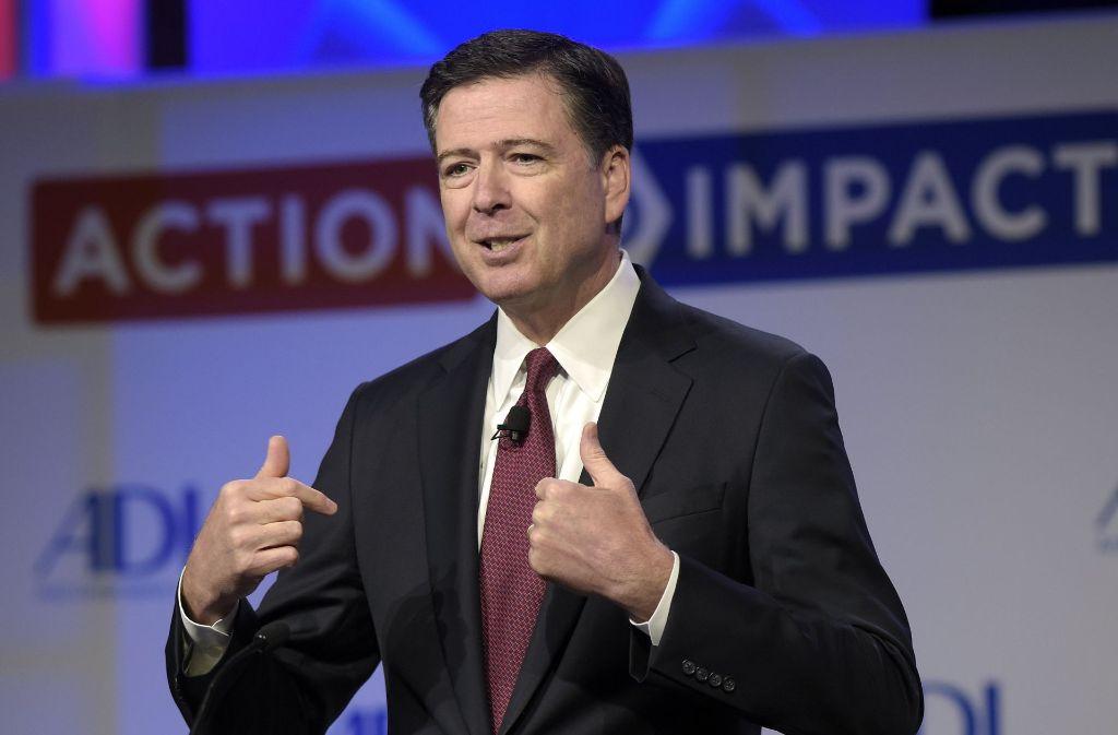 James Comey war von US-Präsident Donald Trump als FBI-Chef gefeuert worden. Foto: AP