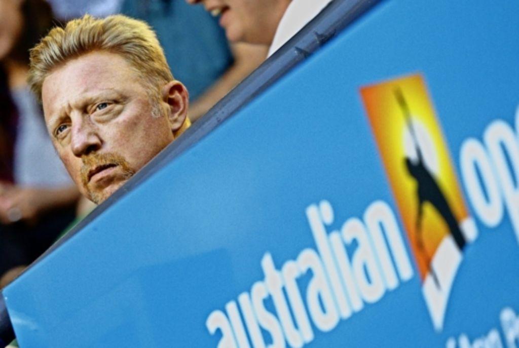 """Star-Versteher: """"Für Novak ist es wichtig, mit jemandem sprechen zu können, der eine Autorität aus eigenem Erleben ist"""", sagt Boris Becker über die Zusammenarbeit Foto: AP"""