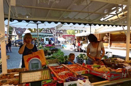 Wochenmärkte bieten  Einkaufserlebnisse