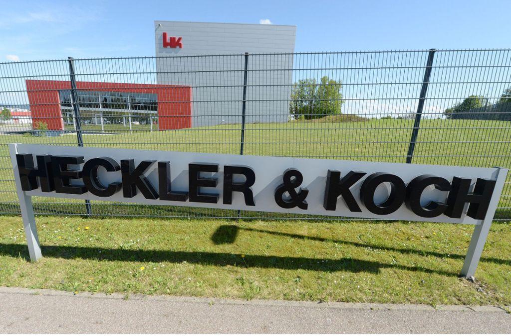 Auf den Waffenhersteller Heckler & Koch kommt ein entscheidendes Jahr 2020 zu. Foto: dpa/Bernd Weissbrod