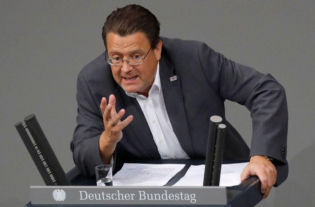 Stephan Brandner (AfD), Vorsitzender des Rechtsausschusses. Foto: AFP/Odd Andersen