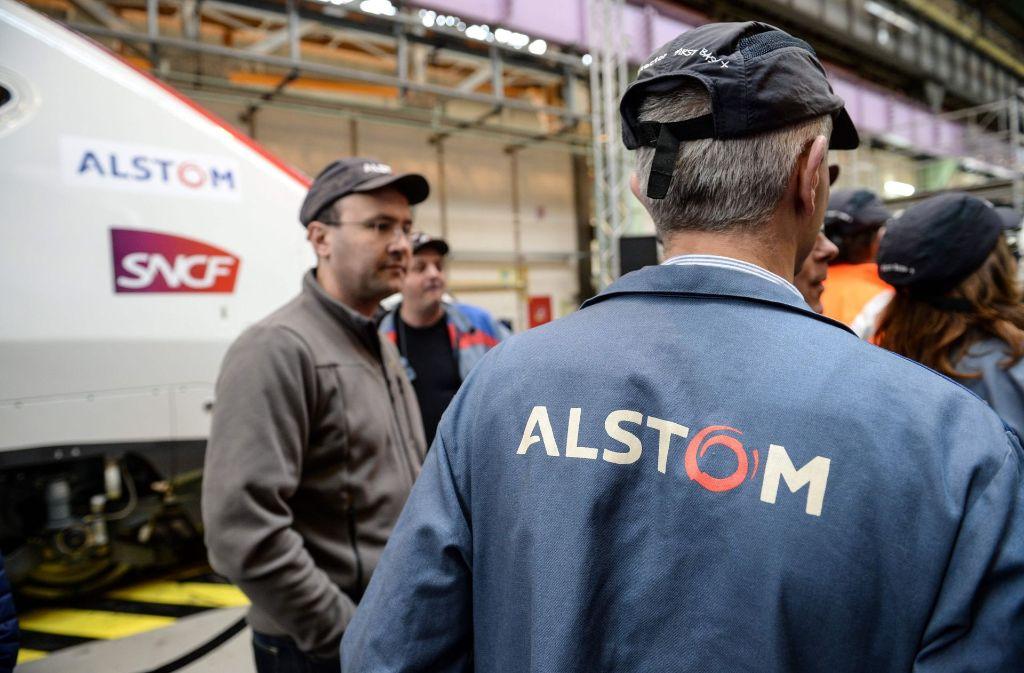 Nicht nur die Alstom-Mitarbeiter haben Vorbehalte gegen die Fusionspläne. Foto: AFP