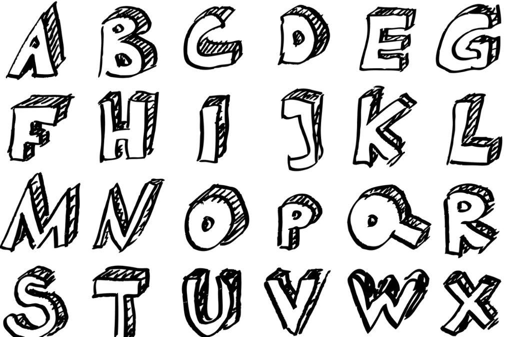 Ein Teil des deutschen Alphabets – die Buchstabiertafel soll Missverständnisse beim Buchstabieren verhindern. (Symbolbild) Foto: stock.adobe.com/Ricardo Göldner
