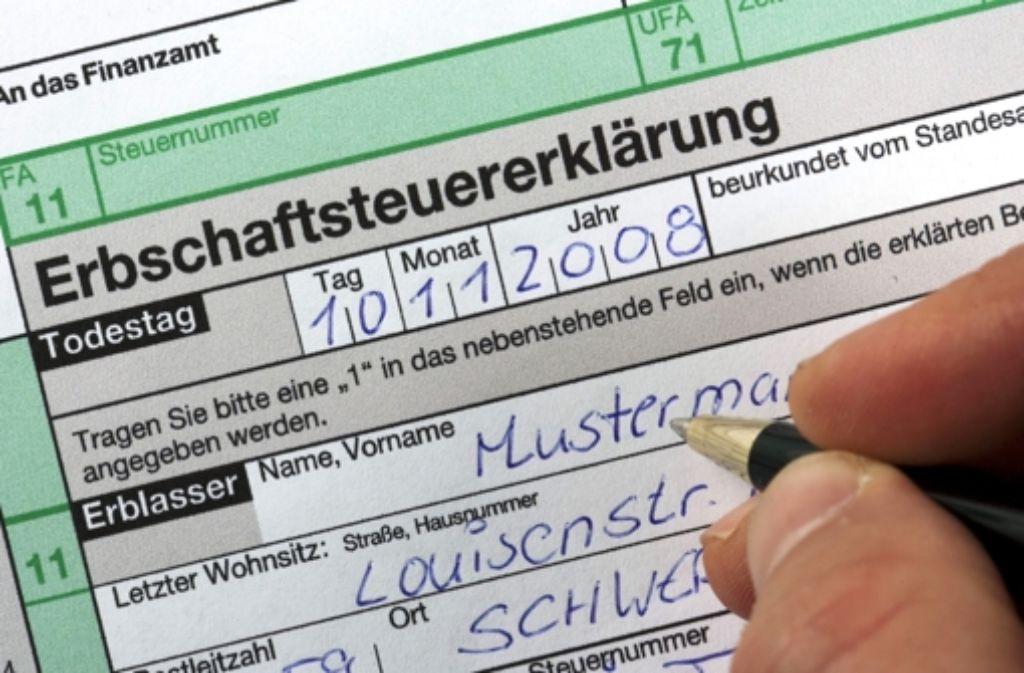 Die meisten Erben in Deutschland zahlen gar keine Erbschaftsteuer. Foto: dpa