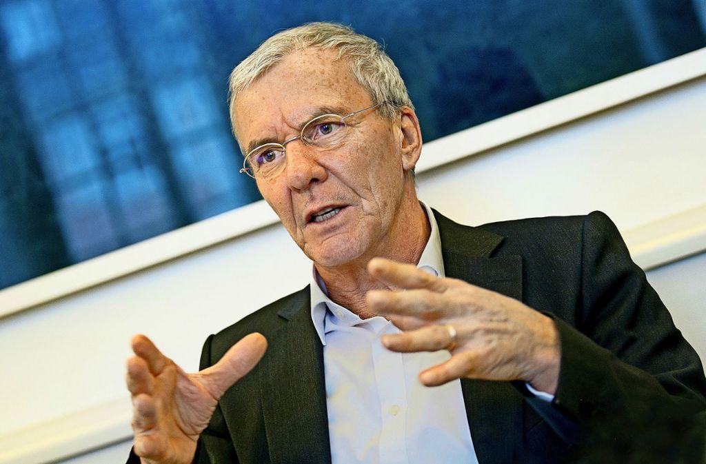 Der Esslinger Oberbürgermeister Jürgen Zieger hat dem Ministerpräsidenten Winfried Kretschmann einen Brief mit Forderungen geschrieben. Foto: /Horst Rudel/Archiv