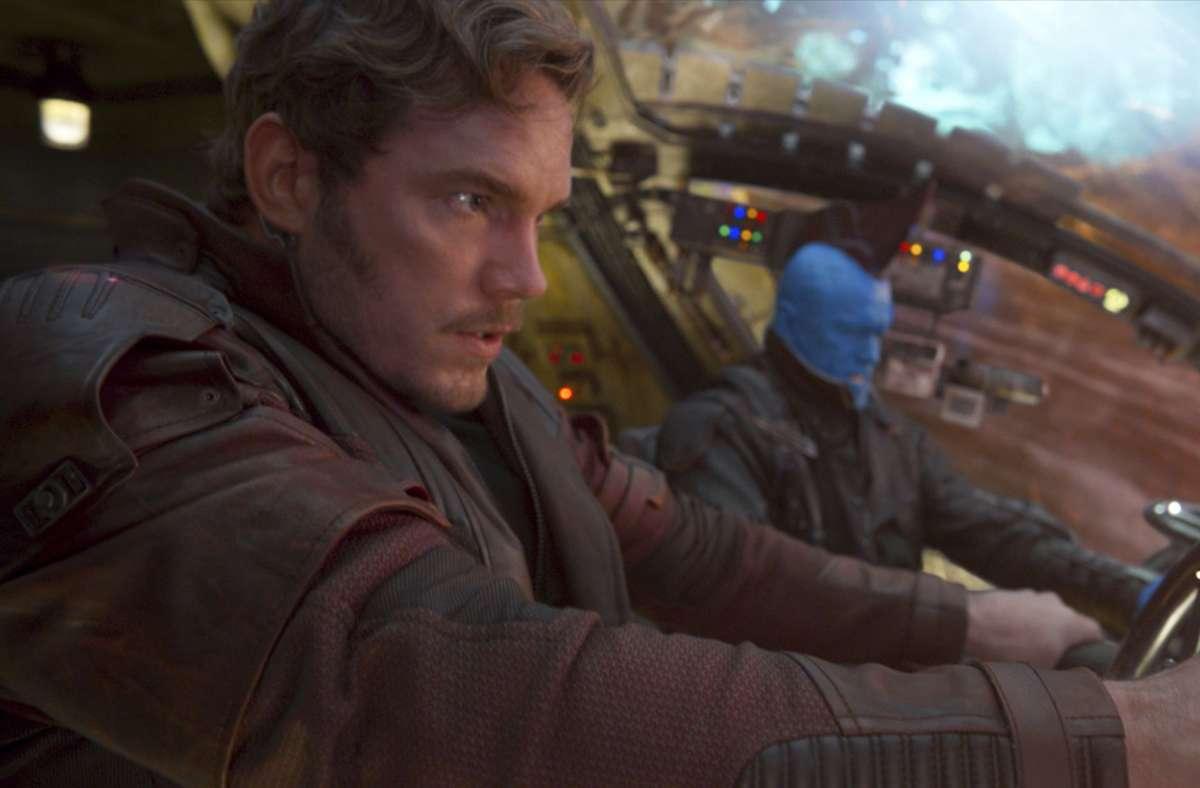Wieder voll im Einsatz: Chris Pratt (l) und Michael Rooker. (Archivfoto) Foto: AP/Marvel Studios/Disney