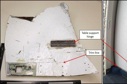 Zwei weitere Trümmerteile sollen vom Flugzeug stammen