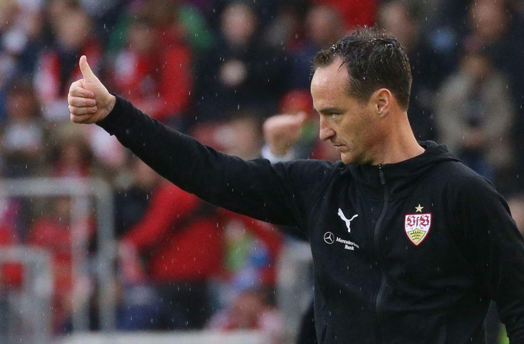 Nico Willig und der VfB Stuttgart hoffen auf den Klassenverbleib. Foto: Pressefoto Baumann