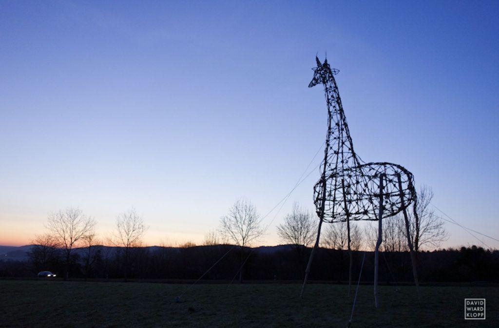 Land Art nennt David Klopp seine vergängliche Kunst, die er in Fotos festhält. Foto: Klopp
