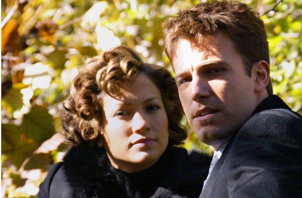 So sah das vor gut 20 Jahren aus: Damals waren Jennifer Lopez und Ben Affleck sogar verlobt. Foto: dpa/Peyton