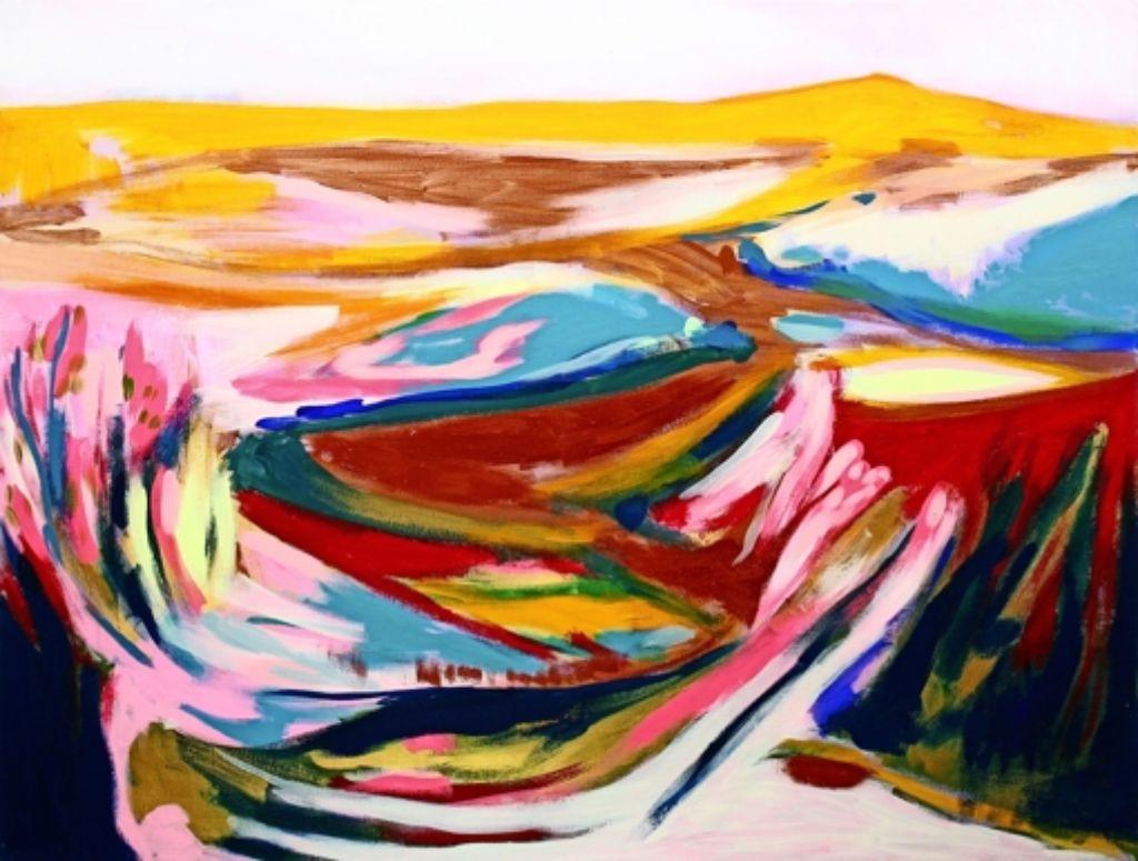 """Unter anderem ist in der Ausstellung das Bild """"Horizonte amarillo"""" zu sehen. Foto: z"""