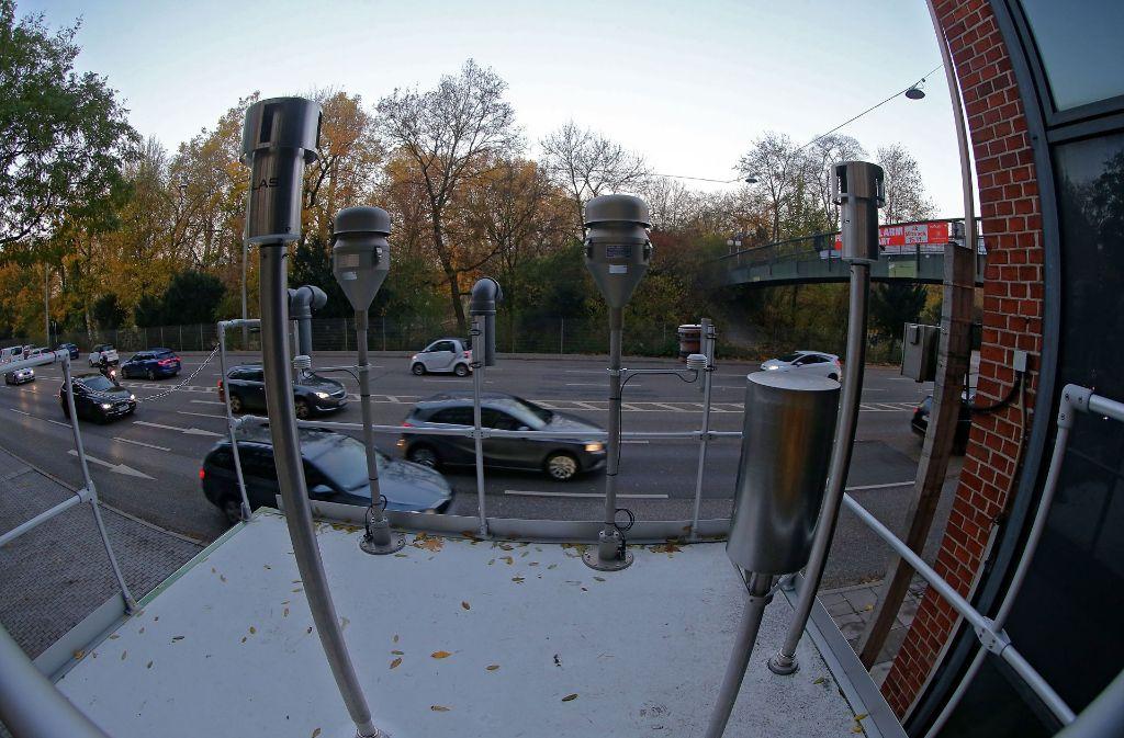 Am Neckartor wird die Feinstaubbelastung gemessen. Foto: Getty Images Europe