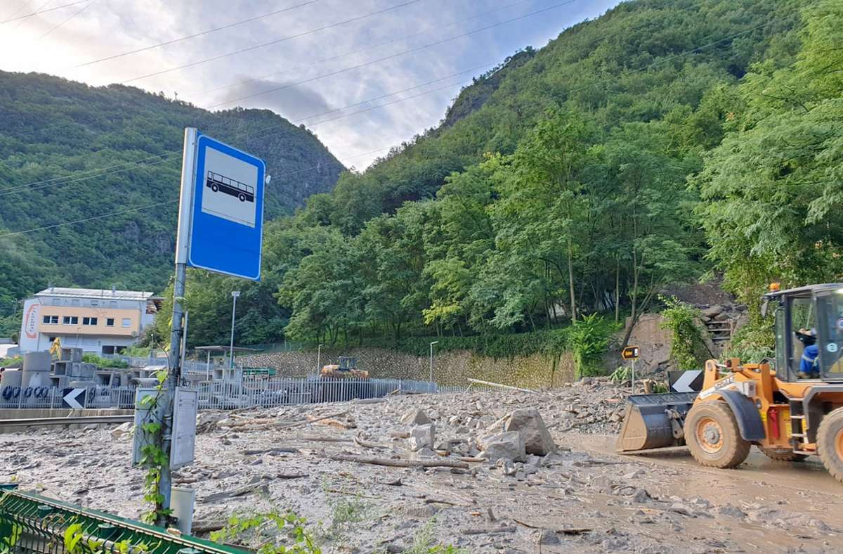 Hochwasser in Südtirol Foto: dpa/LFV S�dtirol