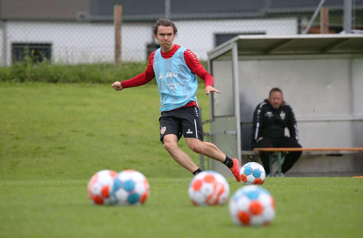 Jordan Meyer weilt derzeit mit dem VfB Stuttgart in Kitzbühel. Foto: Pressefoto Baumann/Alexander Keppler