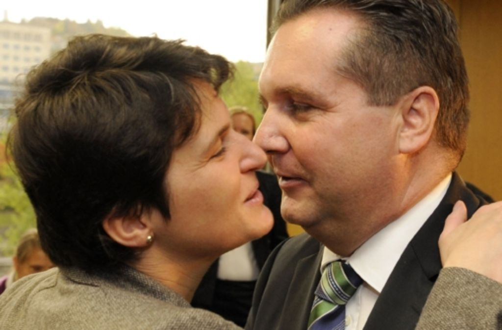 Stuttgart 21 lässt sie nicht los. Ex-Ministerin Tanja Gönner und der frühere Regierungschef Stefan Mappus. Foto: dpa