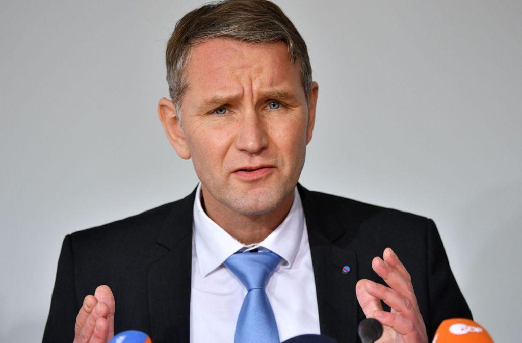 Der Thüringer AfD-Chef Björn Höcke folgt einer Einladung von Pegida-Organisator Lutz Bachmann und kommt nach Dresden. Foto: dpa/Martin Schutt