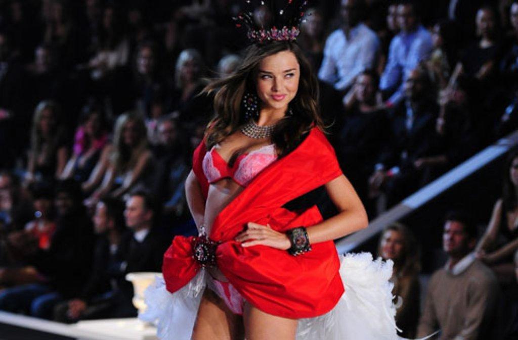 Von 2007 bis 2013 trug Miranda Kerr die Engelsflügel von Victorias Secret. Foto: dpa