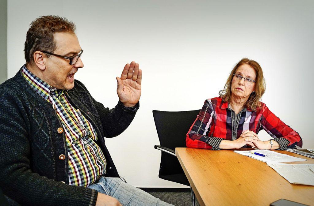Manche Probleme werde der Markt regeln, sagt Achim Gack (Freie Wähler). Ingrid Pitterle (Linke)  ist da skeptisch. Foto: factum/Jürgen Bach