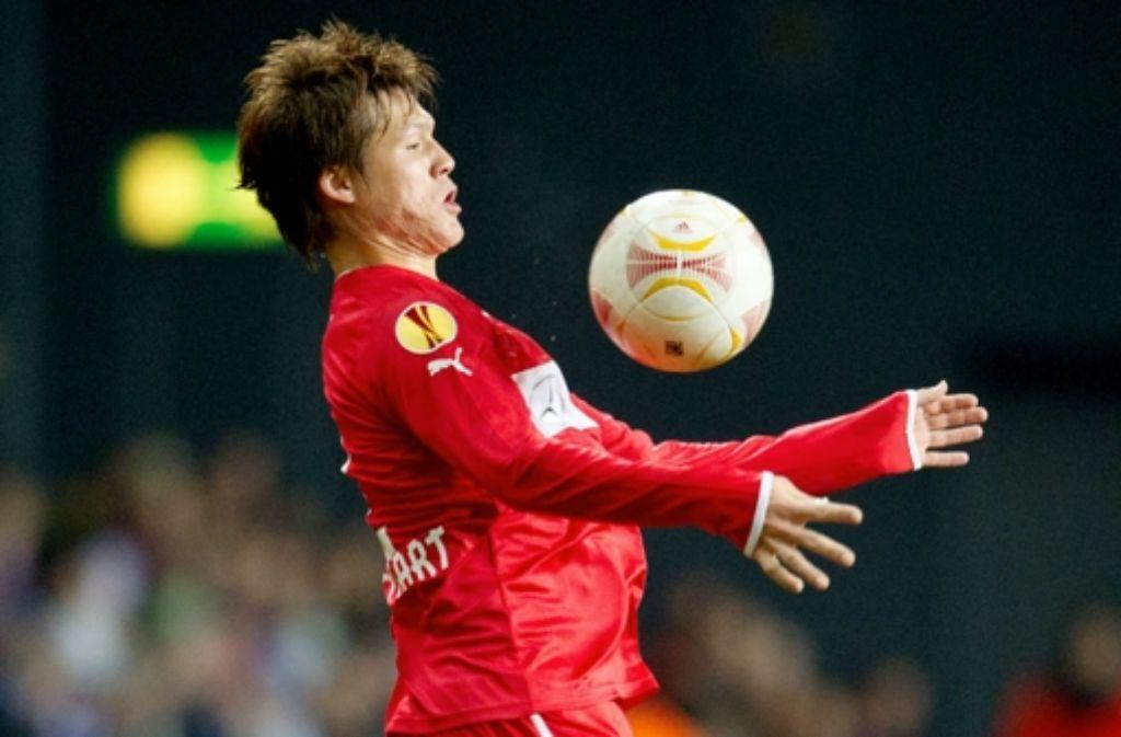 Kann den Ball auch super mit der Brust spielen: Gotoku Sakai. Foto: Baumann