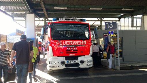 Nach Stichflamme Zug evakuiert