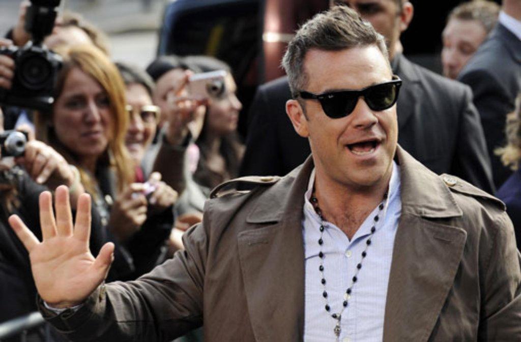 Pünktlich zum Weihnachtsgeschäft bringt Robbie Williams ein neues Album heraus: Swings Both Ways. Foto: dpa