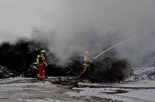 Starker Rauch auf Kompostierungsanlage
