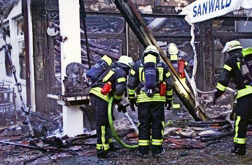 Gaststätte im Gewerbegebiet abgebrannt