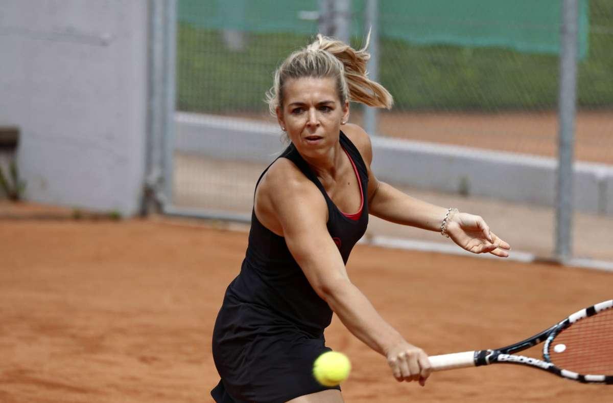 Marina Seibold steuert zwei Punkte zum Sieg der Fellbacherinnen im Spitzenspiel um den Aufstieg bei. Foto: Archiv Patricia Sigerist