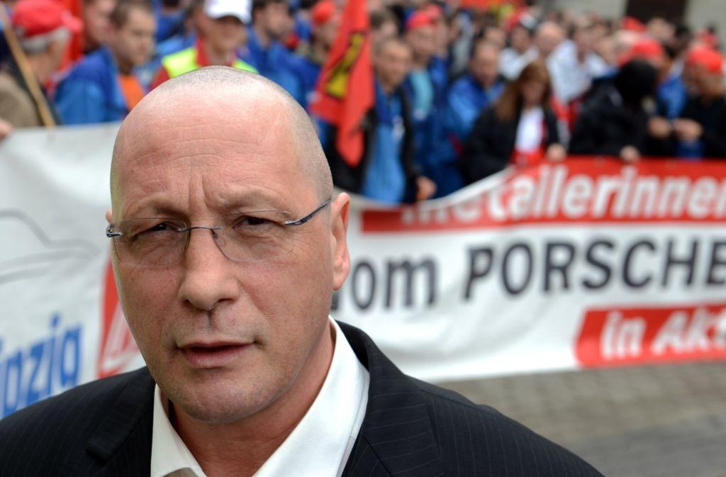 Porsche-Betriebsratschef Uwe Hück warnt: Finger weg von den Investitionen. (Archivfoto) Foto: dpa