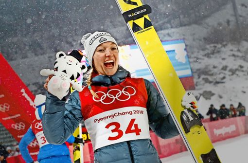 Silber für Skispringerin Althaus